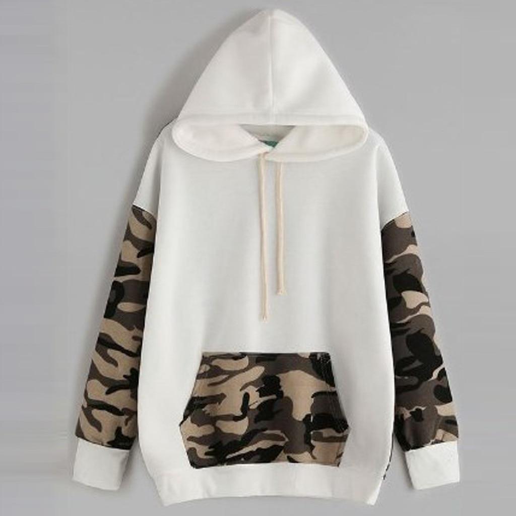 Military Fashion Women Casual Hoodies Long Sleeve Camouflage Sweatshirts Girls Autumn Hooded Tops Pockets Pullovers Streetwear