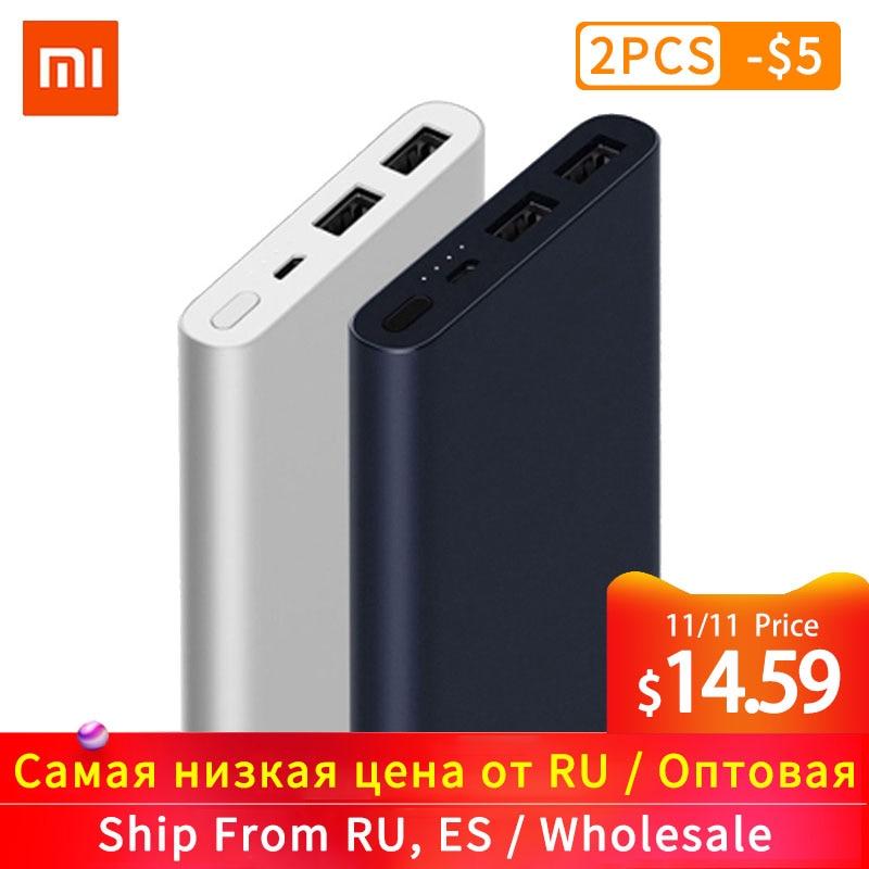New Xiaomi Mi Power Bank 2s 10000 MAh Redmi Power Bank 20000mAh Dual USB Port Quick Charge Powerbank Ultra-thin External Battery