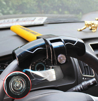 Universal Car Steering Wheel Lock with 2 Keys copper cylinder Anti-Theft Locking Fit for Van SUV Security Rotary T-Shaped Lock universal car steering wheel lock auto anti theft security lock with keys anti theft devices gray brown color hot sale
