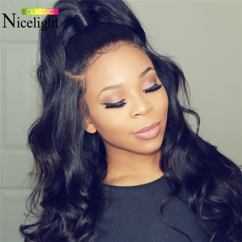 Nicelight Hair Brazilian Body Wave Human Hair Wigs Lace Wig 4X4 Lace Closure Wigs 10-26Inch Remy Hair Wigs For Black Women