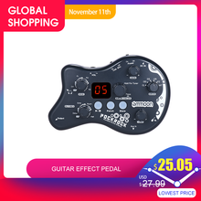 Ammoon PockRock Portatile Guitar Multi effects Processor Effetti A Pedale 15 Tipi di Effetto 40 Tamburo Ritmi Funzione di Sintonizzazione