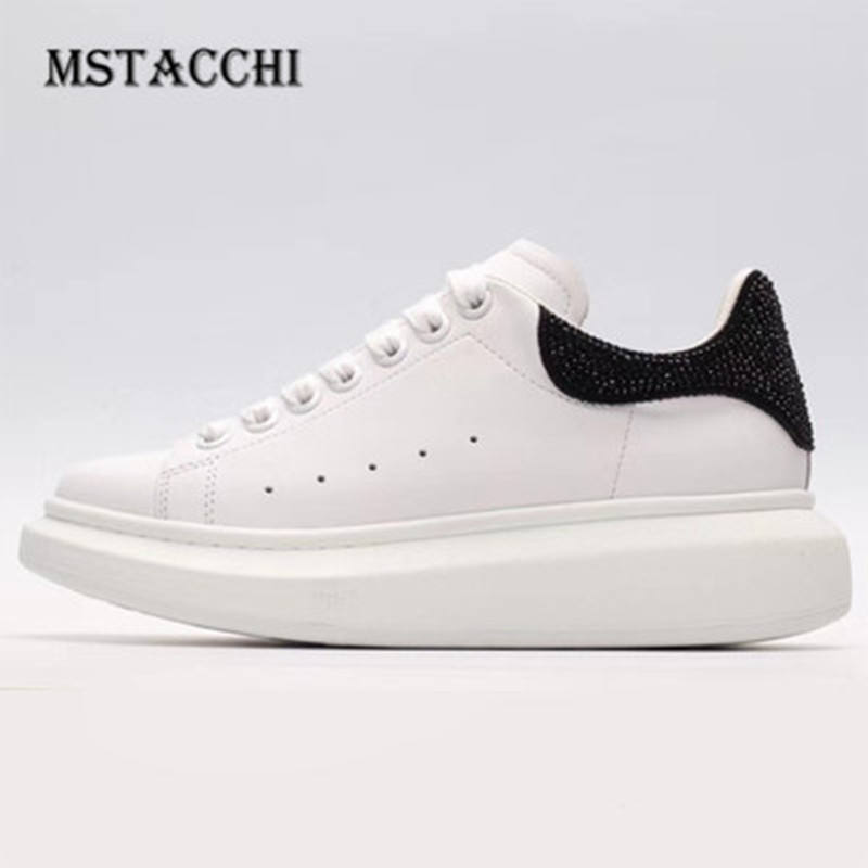 MStacchi 2020 Fashion Graffiti Men Flat Sneakers Genuine Leather Lace-Up Motion Breathable Male Footwear Comfortable Men Shoes