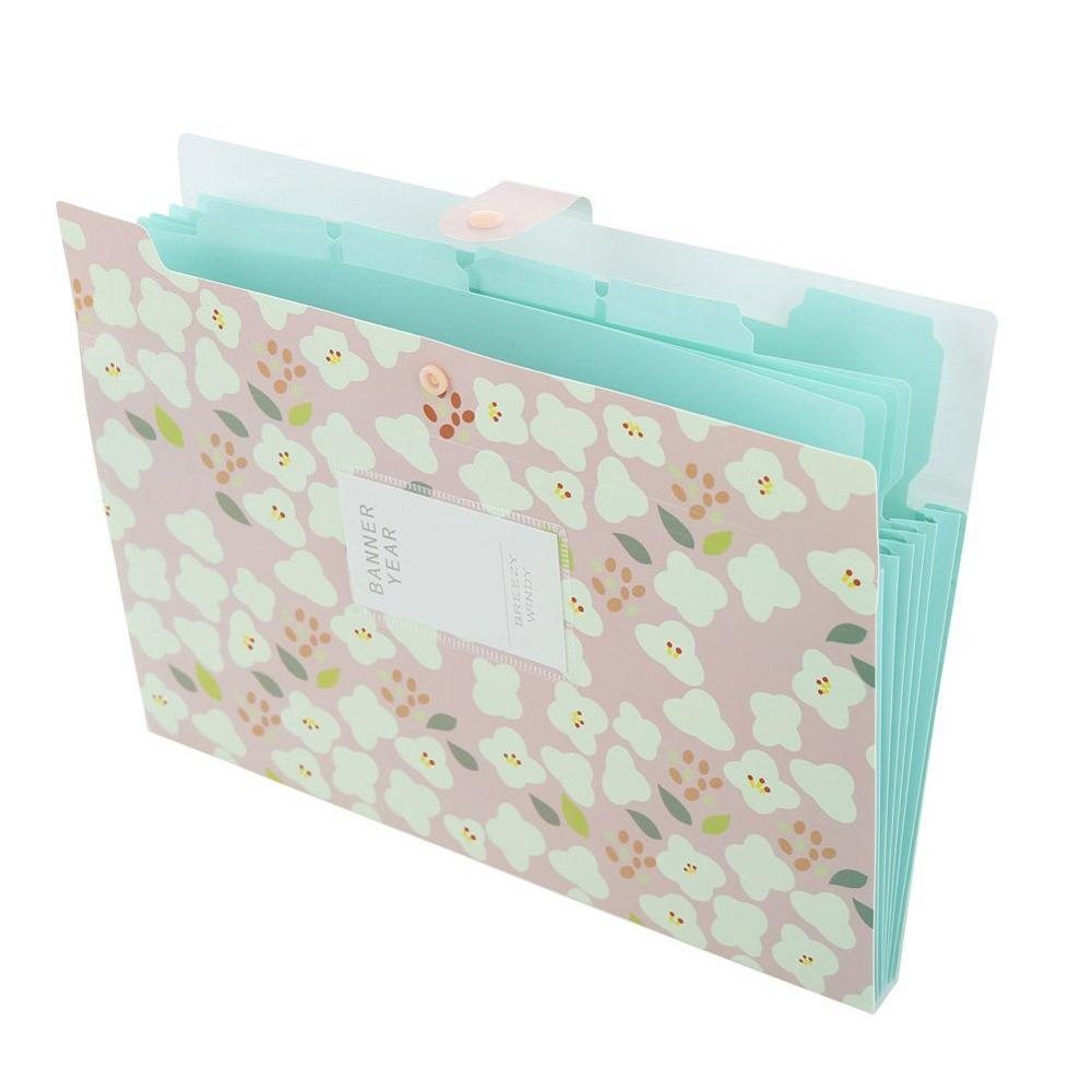 File Bag Bill Folder Pouch A4 File Organizer With 8 Pockets Portable Document Filing Holder A4 Expandable File Organizer