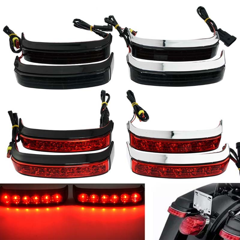 Moto LED sacoche course frein tour lampe lumière pour Harley Road Glide Electra Glide Street Glide CVO 2014-2019