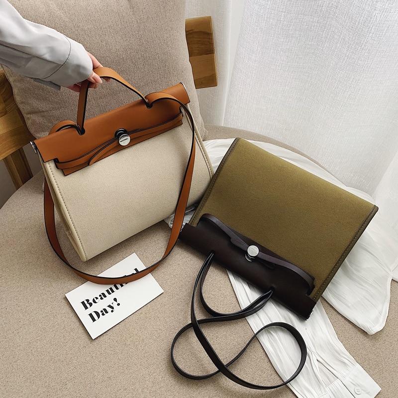 Fashion Women Small Canvas Messenger Bags High Quality Female Handbags Shoulder Bags Luxury Designer Ladies Tote Crossbody Bag