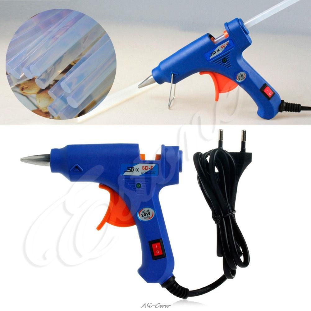 New 20W SD-E Hot Stick Heater Trigger EU Plug Electric Melt Glue Gun Repair Tool