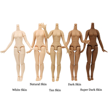 Joint Body 21cm For 30cm 1/6 Blyth Doll with Big Breast Different skin color white tan dark skin Suitable for DIY toy gift