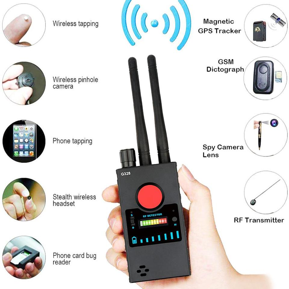 Wireless Signal Anti-Spy Signal RF Dual Antenna High Sensitivity Professional Detector Sweeper Frequency Signal Tracer GSM GPS Tracker Finder Locator