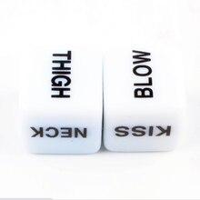 Пикантные осанки 12-гранное сито белые кости Световой Английский для взрослых женщин, сексуальная игрушка, эротический игры для двоих Флуор...