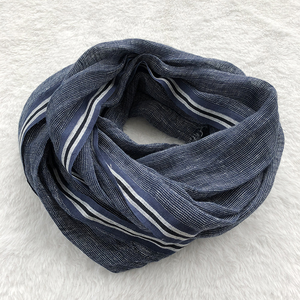 Image 3 - 2020 New Style Spring And Summer Leisure Business Mens Linen Scarf Solid Color Clause Versatile Breathable Shawl