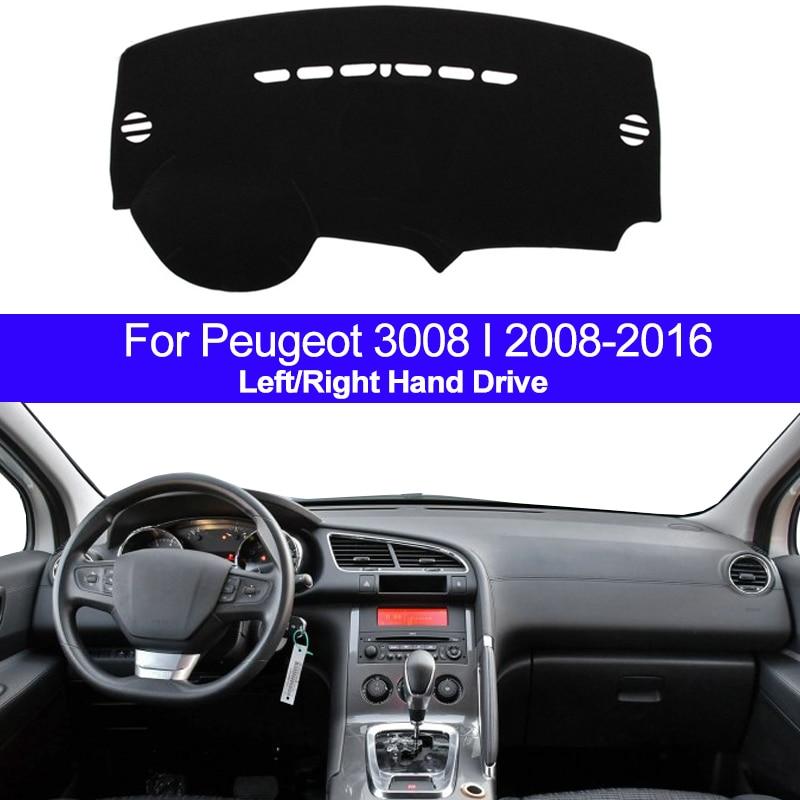 Car Dashboard Cover Dashmat Carpet Dash MatCape For Peugeot 3008 I 2008 2009 2010 2011 2012 2013 2014 2015 2016