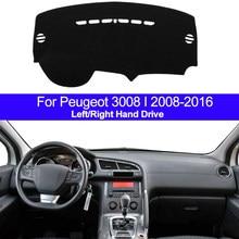 Крышка приборной панели автомобиля, коврик для приборной панели, коврик для Peugeot 3008 I 2008 2009 2010 2011 2012 2013 2014 2015 2016