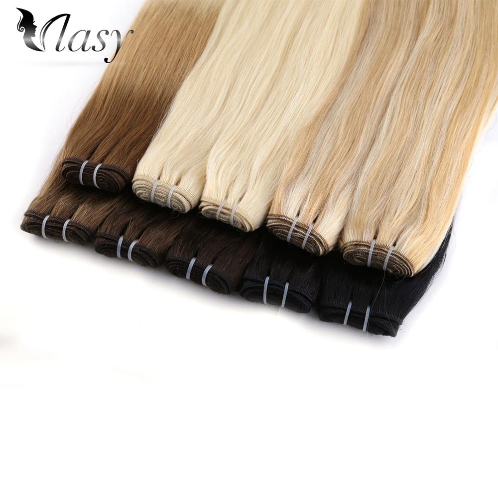 Vlasy Hair Weave Bundles Straight Machine Made Remy 100% Human Hair Weft Extensions 20'' 24'' 100g/pc