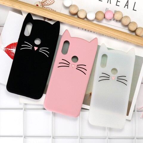 Case For Xiaomi Redmi Note 7 6 5 Pro Cases Redmi 6A 5A 3D Cute Cat Silicone Cover Xiaomi Mi 8 9 SE Lite Pocophone F1 Case Bumper Pakistan