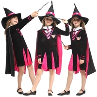 Harry Hermione Sorceress Kids Girls Magician Costume Carnival Halloween Masquerade Witch Wizard Children Cosplay Clothes
