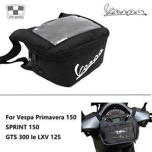Image 5 - Motorcycle Handlebar Bag, Fuel Tank Bags, Windshield Headphone Bag For Vespa Gts 250 300 Sprint 50 150 Etc.