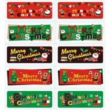 100pcs/lot Kawaii Merry Christmas Santa elk Self Adhesive Stickers Kraft Label Sticker For DIY Hand Made Gift Cake Candy Paper