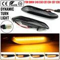 2 шт. для BMW светодиодной динамической Боковой габаритный фонарь поворота светильник последовательного мигалка Li2 pht для E90 E91 E92 E93 E60 E87 E82 E46 ош...