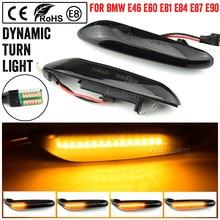 2 pçs para bmw led marcador lateral dinâmico luz pisca sequencial li2 pht para e90 e91 e92 e93 e60 e87 e82 e46 erro livre