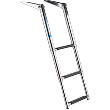 Boat Ladder 3 Step Folding Pontoon Ladders Stainless Steel for Fishing Boat