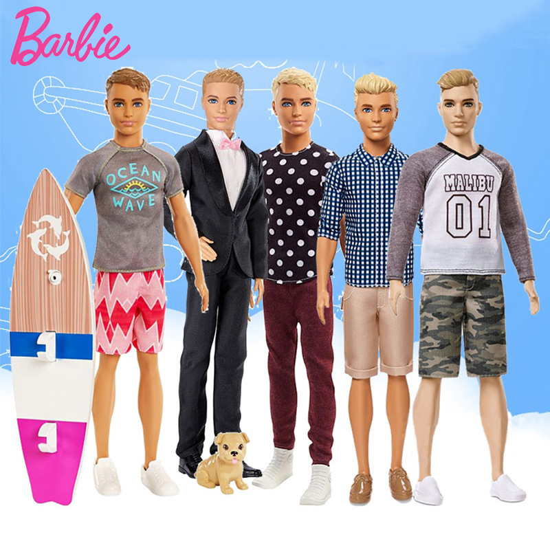 Barbie Original Ken Dolls Barbie's Boyfriend Doll Groom Prince Ken Fashion Style Boy Toy Birthday Gift Bonecas Kid Boneca Figure
