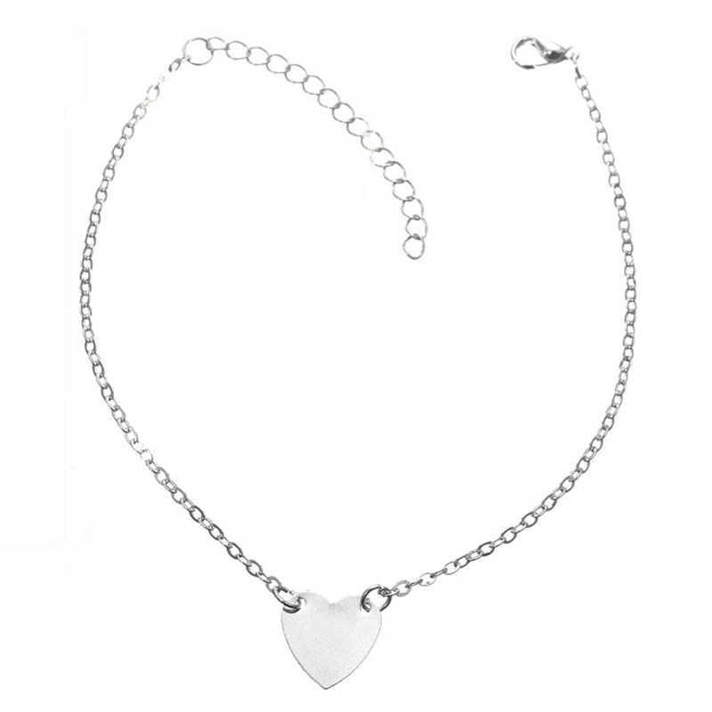 Nowe serce kobiece obrączki boso szydełkowe sandały stopy biżuteria nogi nowe obrączki na kostki kostki bransoletki dla kobiet łańcuch nogi