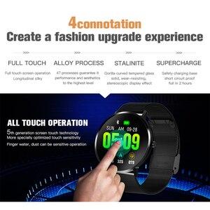 Image 4 - KAIHAI 스마트 워치 강화 유리 심박수 모니터 안드로이드 전화 IP67 방수에 대한 Smartwatch 음악 스톱워치 터치 스크린