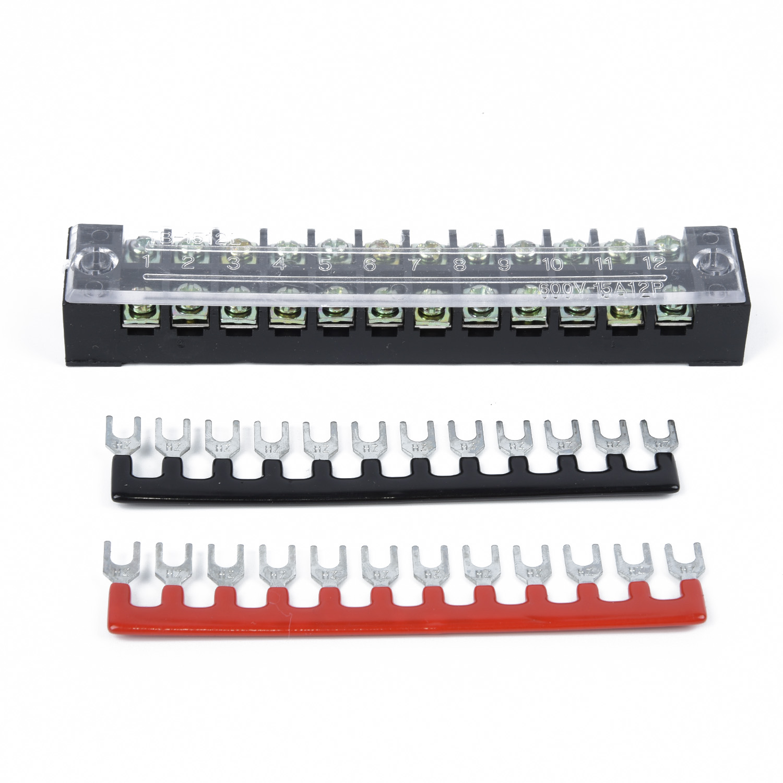 10 Pcs Bus Bar Power Distribution Block 12-Terminal Block Buss Bar 660V & 100Amp
