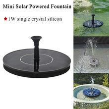 Mini fontanna solarna fontanna ogrodowa Panel słoneczny pływająca fontanna dekoracja ogrodowa Fountain1W krzem jednokrystaliczny