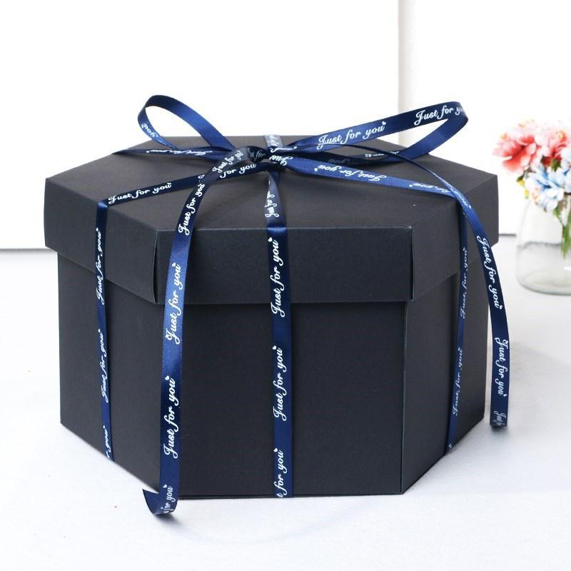 Hexagon Surprise Explosion Box DIY Handmade Scrapbook Photo Album Wedding Gift Box for Valentine Christmas Gift Boxes 7