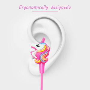 Image 3 - Funny Unicorn Cartoon Headphones Earphones Gamer Music Stereo Earbuds Outdoor Sport Running Headphones Kids Girl Gifts