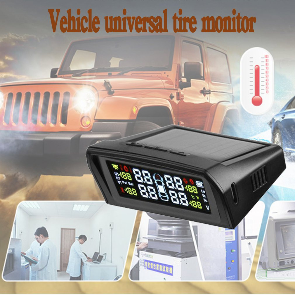 NewFor Steelmate Tp-s1i Tpms Reifendruck-Monitor-System Drahtlose Solar-powered Display 4 Interne Sensoren