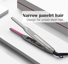 IRUI Ceramic Beard Hair Straightener Curling Iron Professional Flat for Short 2 in 1 LED