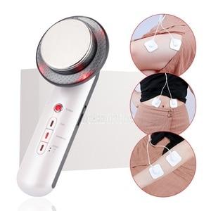 Image 1 - 3 in 1 ultrasonik vücut zayıflama makinesi yüz kaldırma kilo kaybı ultrason kızılötesi cilt terapi Fat Burner güzellik cihazı