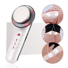 3 w 1 ultradźwiękowa maszyna wyszczuplająca do ciała do Lifting twarzy odchudzanie ultradźwięki podczerwieni terapia skóry Fat Burner Beauty Device