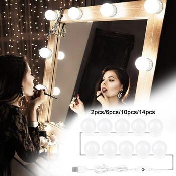 LED 12V lustro do makijażu żarówka Hollywood Vanity Lights bezstopniowa ściemniająca lampa ścienna 6 10 14 zestaw żarówek do toaletka tanie i dobre opinie Parkone CN (pochodzenie) Przełącznik W7076 12 v