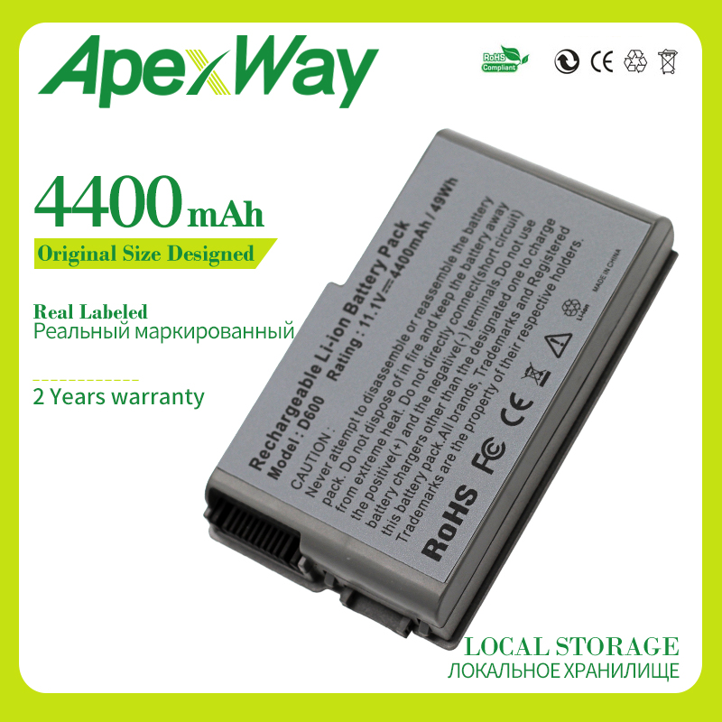 Apexway 11.1V 6Cell Battery For Dell Latitude D500 D505 D510 D520 D530 D600 D610 For Precision M20 C1295 M9014 U1544 W1605 Y1338