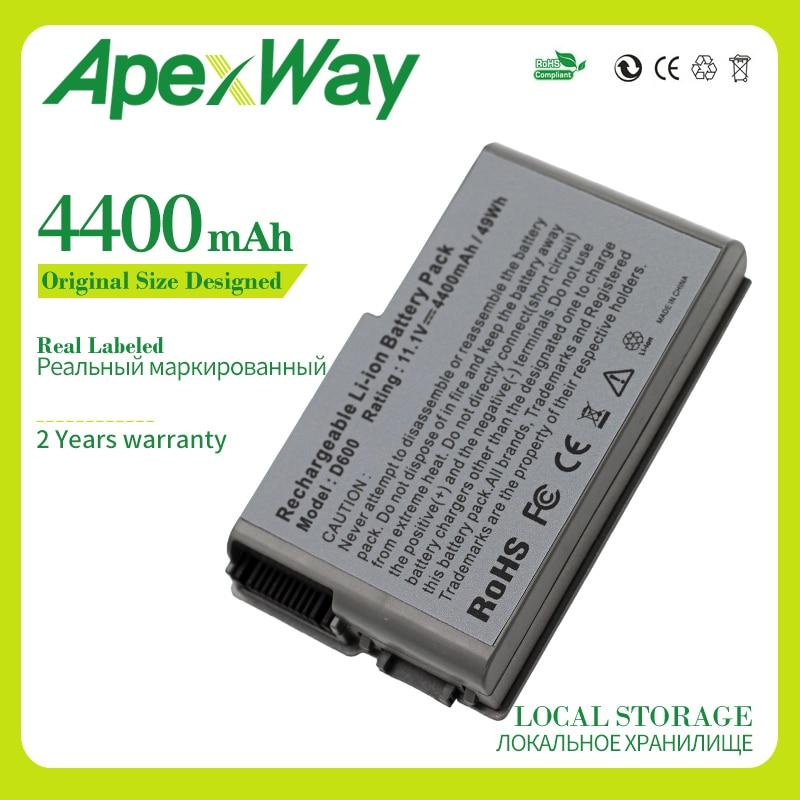 Apexway 11.1V 6Cell Battery For Dell Latitude D500 D505 D510 D520 D530 D600 D610 For Precision M20 C1295 M9014 U1544 W1605 Y1338