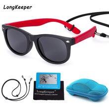 Детские солнцезащитные очки поляризационные tr90 с силиконовыми