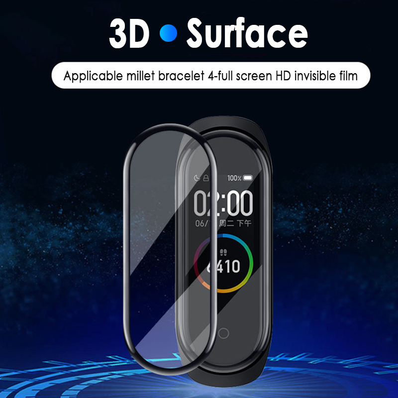 2019 New Smart Accessories For Xiaomi Band 4 Full Cover Tempered Glass Screen Protector Super-protective Film