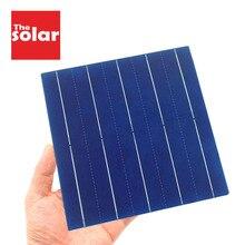 Painel solar 5v 6v 12v 50 peças, mini sistema solar diy para carregadores de bateria portátil 125 156 célula solar 0.37w 0.54w 0.66w 1.05w