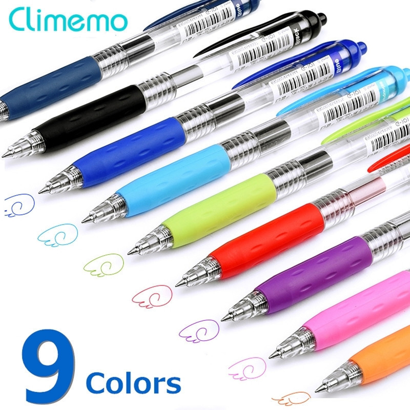 Climemo 3Pcs/lot Gel Pens For School Office Supplies Multicolor Cute Stationery For Student Hot Sale 0.5mm Writing Ballpoint Pen