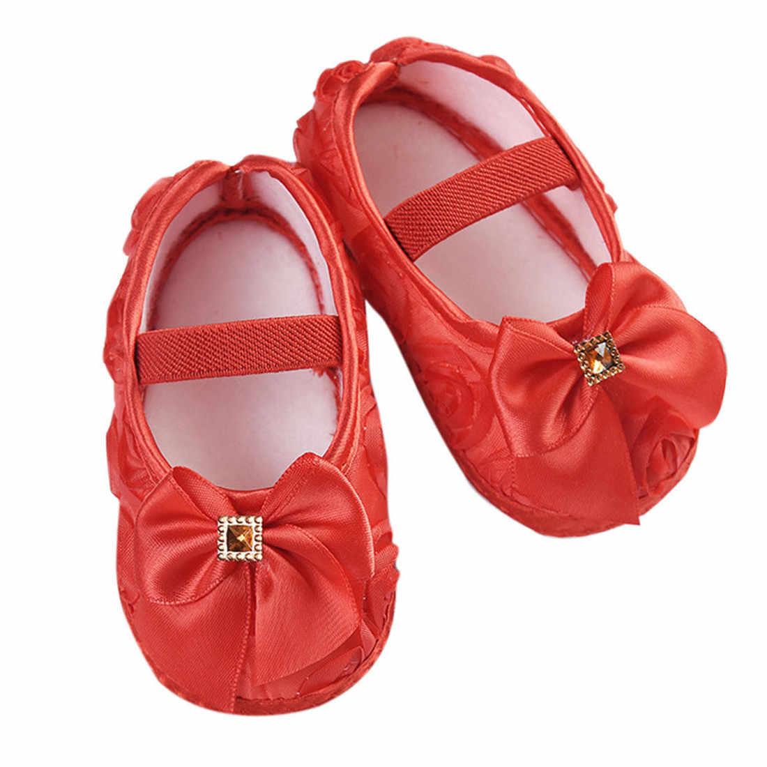 Zapatos bebé niño chico bebé niñas Rosa Bowknot banda elástica de algodón zapatos para recién nacidos zapatos детская обувь