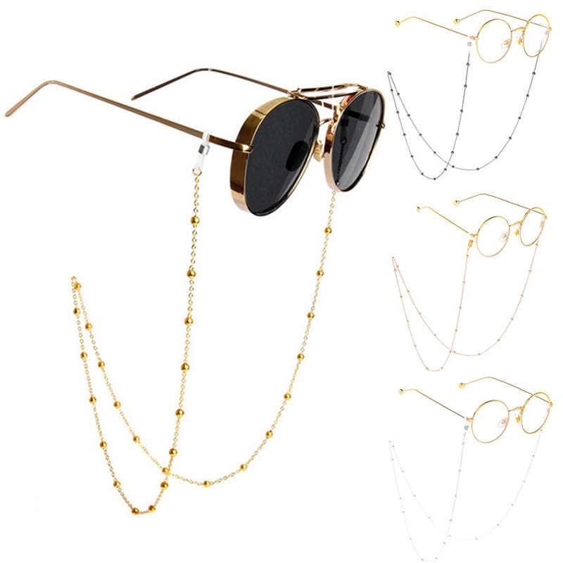 Nữ Vàng Bạc Kính Mắt Dây Xích Thời Trang Sang Trọng Kính Mát Đọc Hạt Kính Dây Chuyền Eyewears Dây Giá Đỡ dây đeo cổ Dây