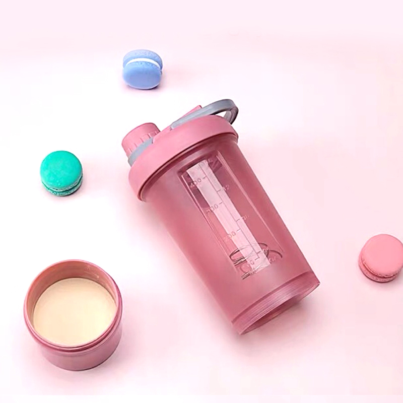 Sport Shaker Plastic Water Bottle Portable Milkshake Bottles Fitness Kettle Outdoor Creative With Lid Hand Hidro Flask Drinkware|Shaker Bottles|Home & Garden - title=