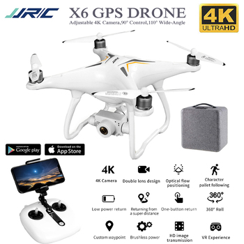 цена на JJRC X6 Drone 4K Gps Professional Brushless Rc Quadcopter 5G Follow Me WiFi Fpv Selfie Quadrocopter Adjustable Camera Drone