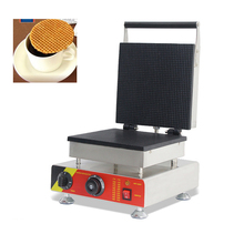 SUCREXU Commercial Electric Dutch Stroopwafels Syrup Waffle Baker Maker Ice Cream Cone Machine Nonstick CE 110v 220v цена и фото