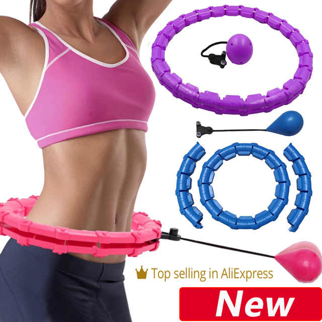 Adjustable Sport Hoops Abdominal Thin Waist Exercise Detachable Massage Fitness Hoops Gym Home Training Weight Loss 1