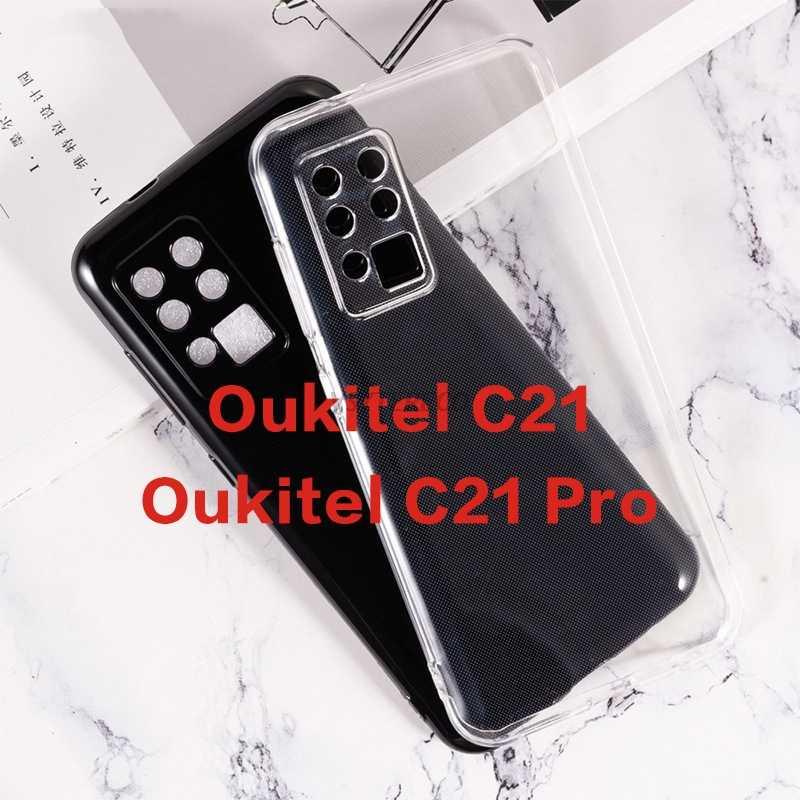 Antichoc Souple Silicone Ultra Mince /Étui Cover Housse pour Oukitel C21 Verre tremp/é /écran Protecteur cookaR Coque Oukitel C21 Transparente HD Clair