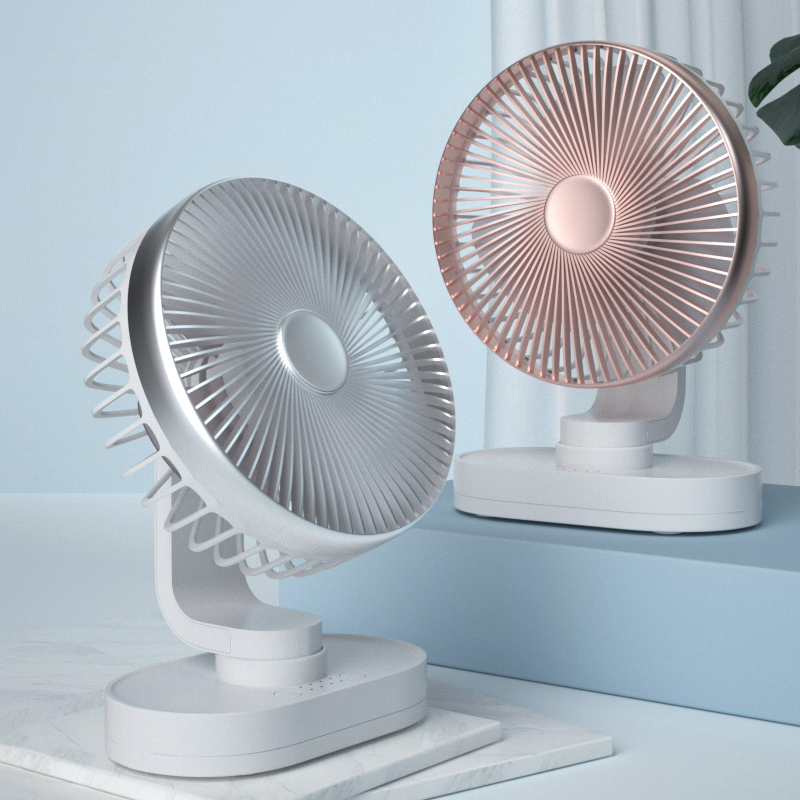 Mini <font><b>Fan</b></font> Portable DC <font><b>5V</b></font> <font><b>USB</b></font> Rechargeable Strong Wind Small Table Silent <font><b>Fan</b></font> Noiseless Oscillating Desktop Cooling <font><b>Fan</b></font> <font><b>USB</b></font> Gadget image